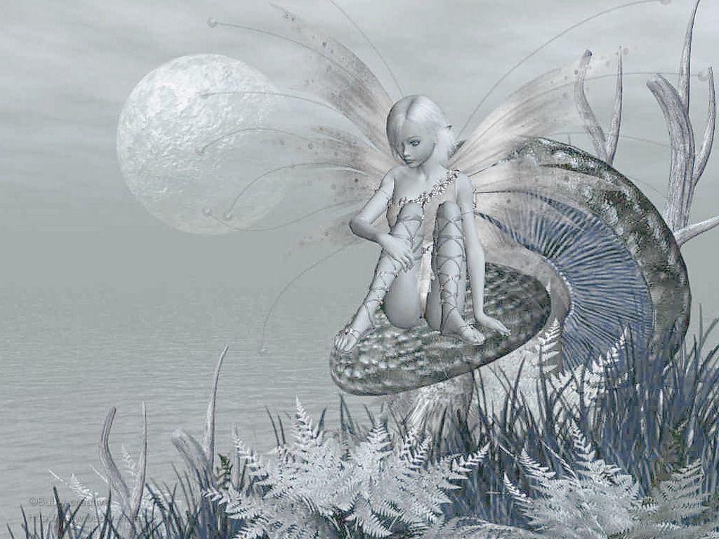 Anges elfes fees et lutins page 56 - Dessin de fee en noir et blanc ...
