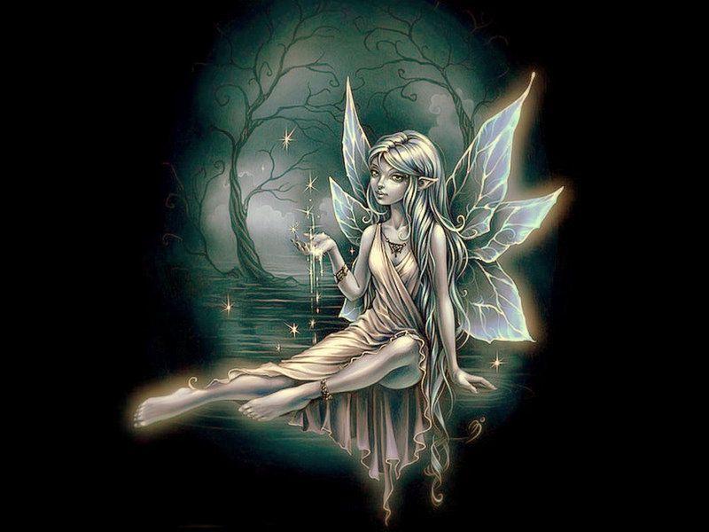 Anges elfes et fees logo arlette - Dessin elfes et fees ...
