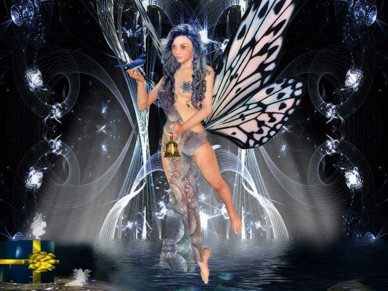 Anges elfes fees et lutins for Fond ecran fee